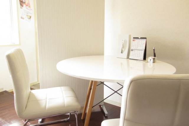 受付用のテーブル